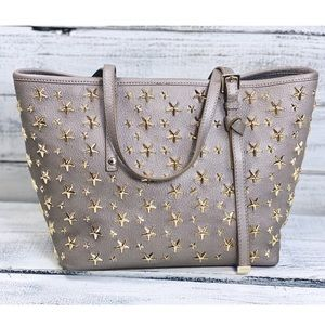 "Jimmy Choo ""Sasha Star-Studded Tote"" Bag Neutral"